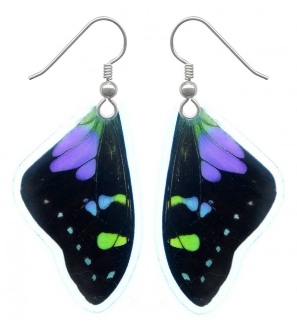 Real Butterfly Wing Earrings - Graphium Weiskei Butterfly - C911C015PTF