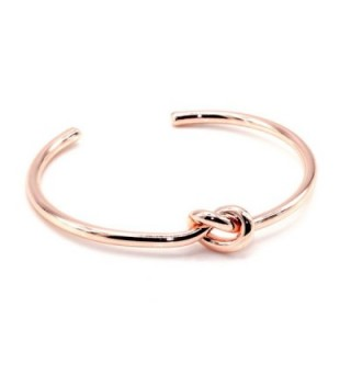 MayaBracelets Circular Knot Cuff Bangle Bracelet - Rose Gold - CI17YKK3DZA