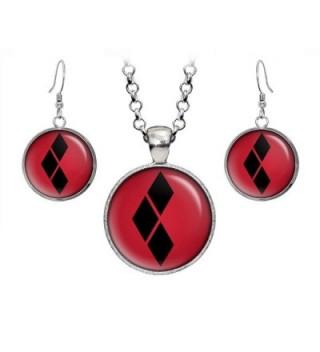 Diamond Necklace Earrings Birthday Avengers - CB12IXXOGNJ