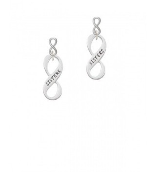 Silvertone Family Infinity Sign Infinity Post Earrings - C612O7IV9JH