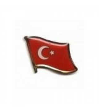 Turkey Turkiye Country Flag Small Metal Lapel Pin Badge ... 3/4 X 3/4 Inches ... New - C21182GV2TJ