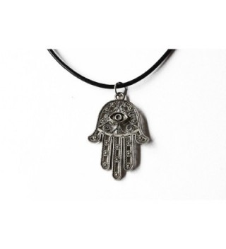 Ancient Silver Hamsa Choker Necklace