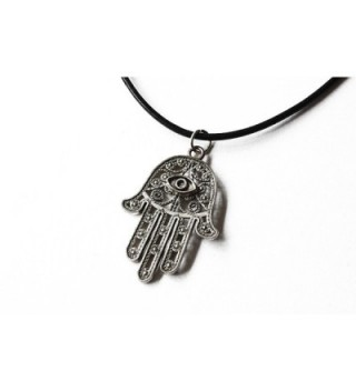 Ancient Silver Hamsa Choker Necklace in Women's Lockets
