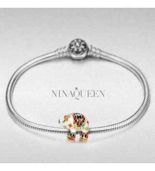 NinaQueen Elephant bracelets anniversary valentines in Women's Charms & Charm Bracelets