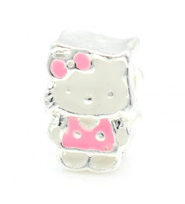 Pro Jewelry Pink Hello Kitty Bead Compatible with European Snake Chain Bracelets - CE12OD1YB2A