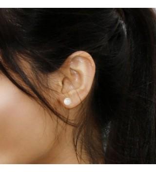 7 8mm Cultured Freshwater Earrings Healthy in Women's Stud Earrings