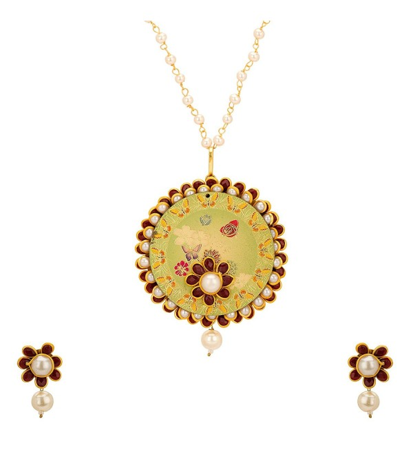JaipurSe Jewelry Pendant Earring Accessory - Brown - CE1853ELQCD