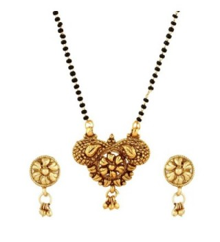 Traditional Indian Historic South Indian Inspired Mangalsutra Necklace with Earrings Ethnic Tanmaniya - CD1825900N9