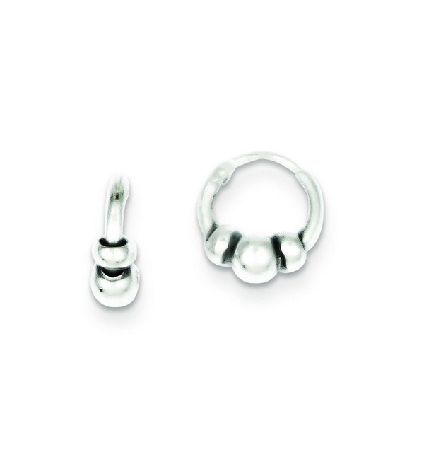 Sterling Silver Hoop Earrings - CA11572AQRJ