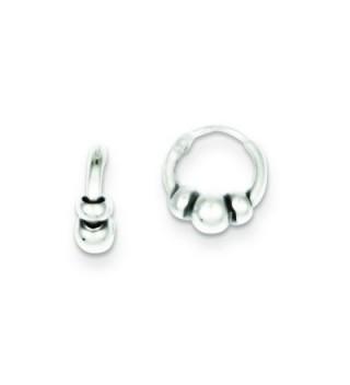 Sterling Silver Hoop Earrings - CA11572AQRJ