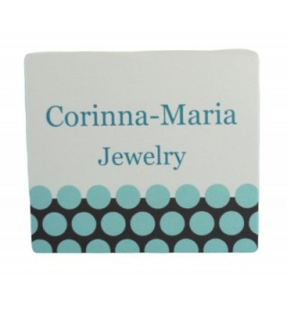 Corinna Maria Sterling Silver Round Diabetic in Women's Charms & Charm Bracelets