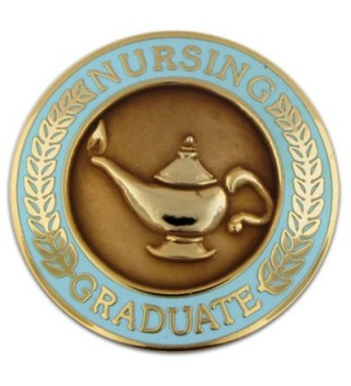 PinMart's Nursing Graduate Lamp of Knowledge Circle Teal Enamel Lapel Pin - CG110T803MP