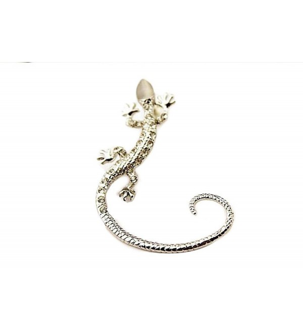 Creazy 1pc Crystal Rhinestone Ear Cuff Earrings Luxury Gecko Stud Earrings - B - CA127LIID5T