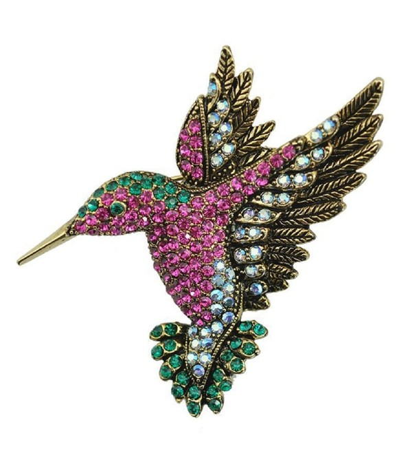 Top Cheer Vintage Style Rhinestone Crystal Woodpecker Brooch Pin Animal Broach Pins Jewelry - C61867T2UDO