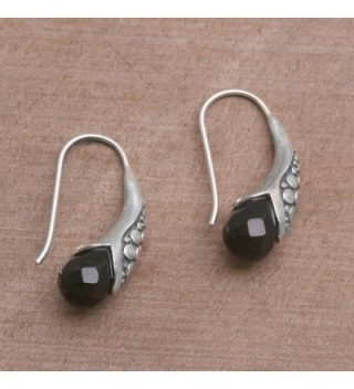 NOVICA Sterling Silver Earrings Midnight