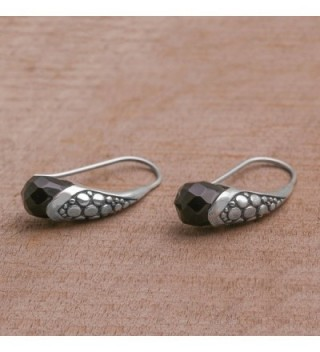 NOVICA Sterling Silver Earrings Midnight in Women's Drop & Dangle Earrings