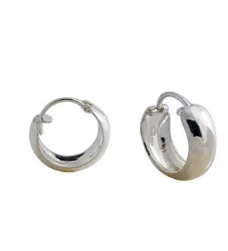 SOLID STERLING SILVER ROUND GLOSSY