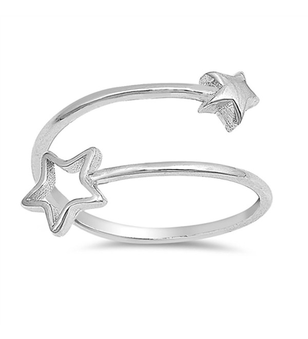 Thin Open Shooting Star Adjustable Ring New .925 Sterling Silver Band Sizes 4-10 - C8183GI9NIY