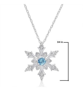 Swiss Snowflake Pendant Necklace Sterling Silver in Women's Pendants