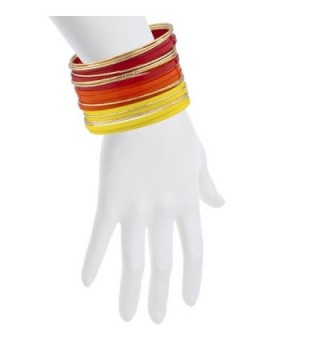 Lux Accessories Orange Goldtone Bracelet