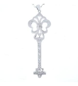 Womens Silver Heart Diamond Pendant in Women's Chain Necklaces