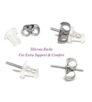 Sterling Silver Gymnast Leotard Earrings in Women's Stud Earrings