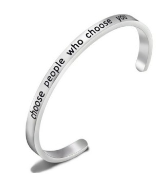 SEIRAA Choose People Who Choose You Bracelet Confidence Jewelry Cuff Bangle Confidence Gifts For Her - CK188SNWXG8