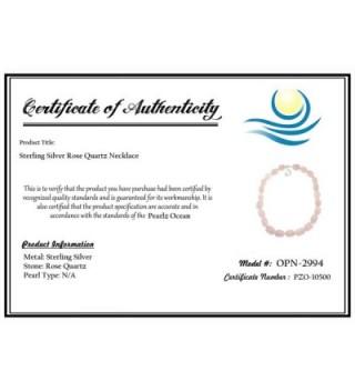 Pearlz Ocean Quartz Necklace Sterling