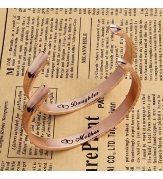 ZuoBao Daughter Bracelet Mothers Pcs Rose in Women's Cuff Bracelets