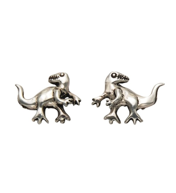 Sterling Silver Baby T-Rex Dinosaur Stud Earrings - CE11GGRKFAR