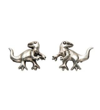 Sterling Silver Baby T-Rex Dinosaur Stud Earrings - CE11GGRKFAR
