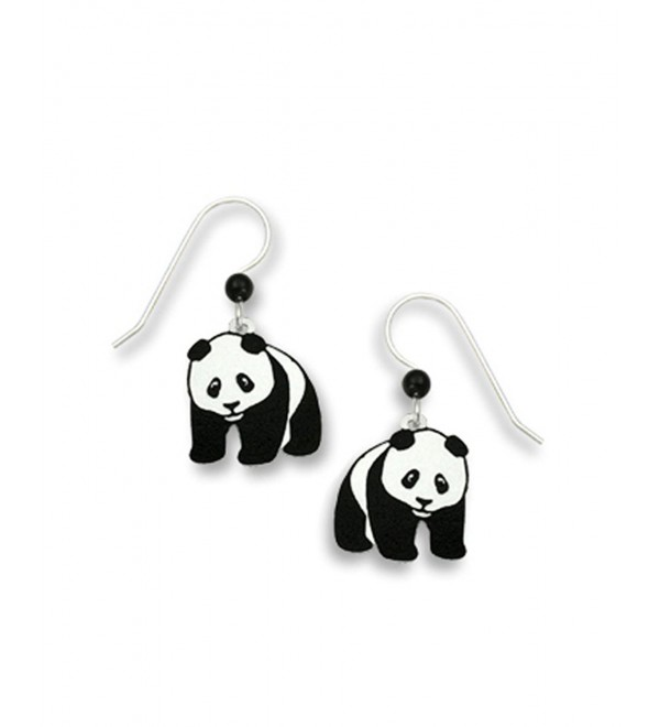 Panda Bear Hand Painted Dangle Earrings Made in USA by Sienna Sky 869 - CJ11CURKITV