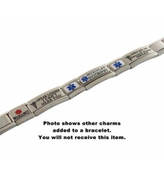 Diabetes Medical Alert Italian Bracelet in Women's ID Bracelets