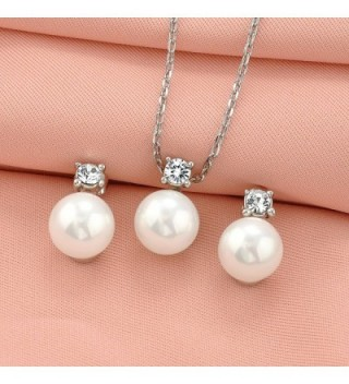 Simulated Crystal Pendant Necklace Earrings