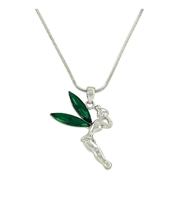 Liavys Tinker Pendant Fashionable Necklace - Dark Green - C512N9OOJF5