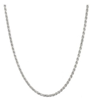 "Sterling Silver 2.75mm Italian Diamond Cut Rope Chain Necklace All Sizes 16"" - 30"" - CF12MYWVK70"