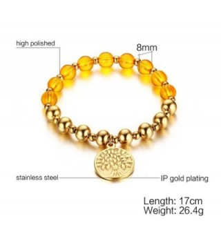 Plated Stainless Steel Stretch Bracelet