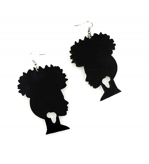 Afro Puff Acrylic Earrings - CL12NACBMYE