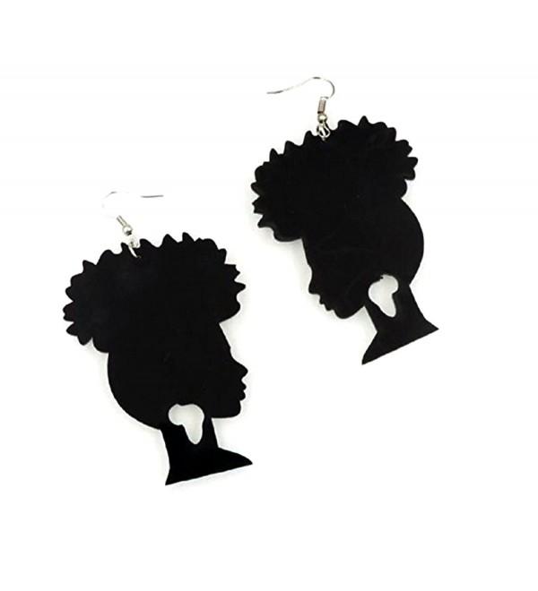 Afro Puff Acrylic Earrings - CL12NACBMYE