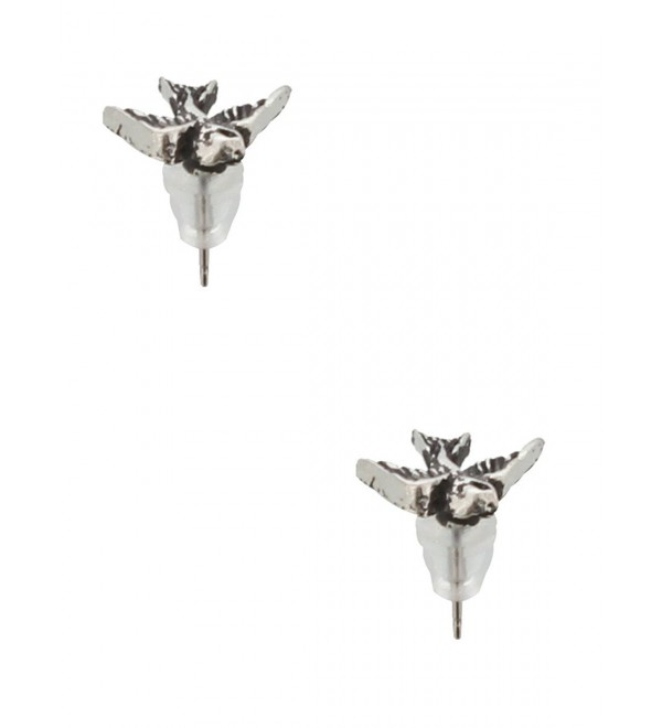 "Tattoo-style ""Swallow"" Stud Earrings - C01151SS2U3"