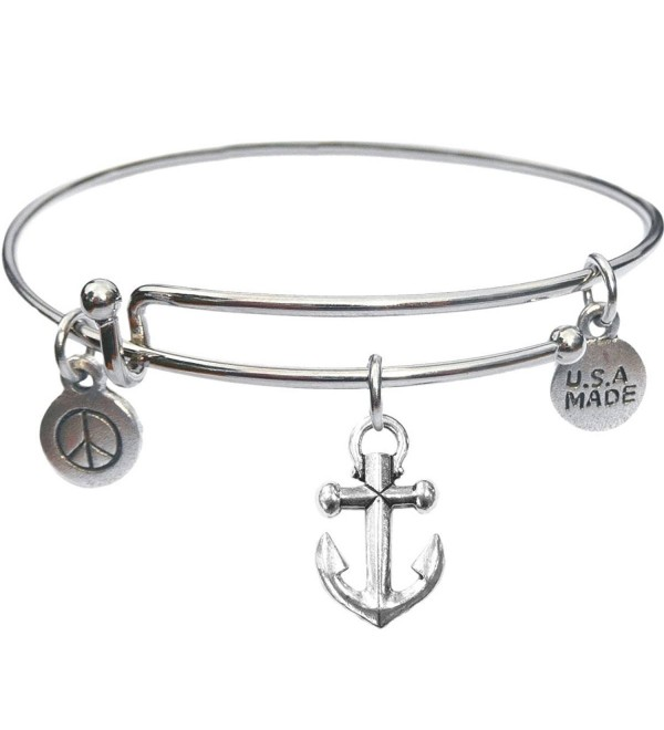 Bangle Bracelet and Anchor Charm - C511TSW7HDV