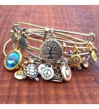 Bangle Bracelet and Anchor Charm