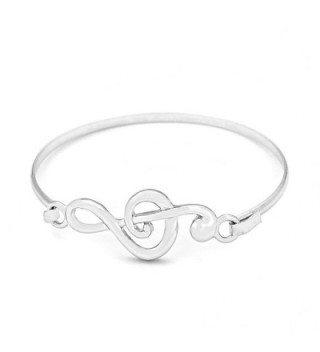 Silver Treble Clef Bangle - CR11A5JDAB7