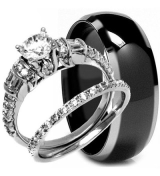 Sterling Titanium Engagement Matching Anniversary - CV127TEF051