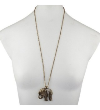 Lux Accessories Goldtone Elephant Necklace