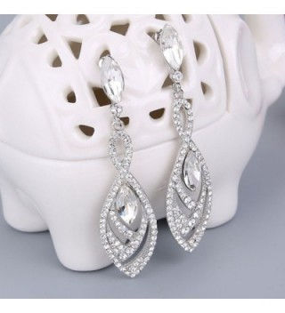 BriLove Gorgeous Chandelier Teardrop Silver Tone in Women's Drop & Dangle Earrings