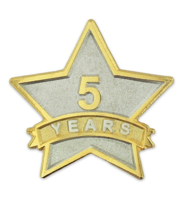 PinMart's 5 Year Service Award Star Corporate Recognition Dual Plated Lapel Pin - CG11NKC5G97