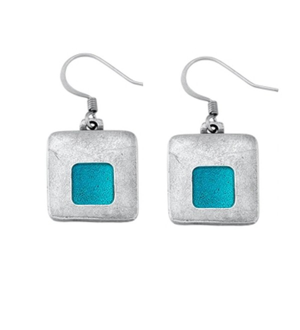 Danforth - Stability / teal Pewter Wire Earrings - C2110MMJJJV