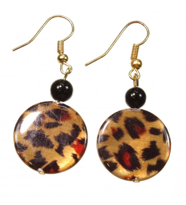 Prowling About Shiny Leopard Print Earrings- 2 Inches - C711M90CFJZ