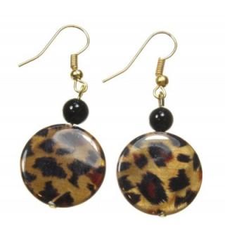 Prowling About Leopard Earrings Inches in Women's Drop & Dangle Earrings